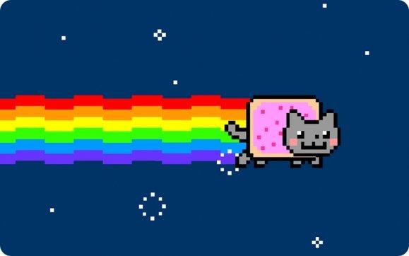 Кот на радуге картинки