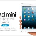 Apple объявила о возможности предварительного заказа iPad mini