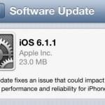 Вышла iOS 6.1.1…