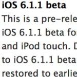 Вышла iOS 6.1.1 Beta 1