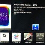 Видеотрансляция WWDC 2013 на сайте Apple