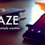 Haze – минималистичный прогноз погоды