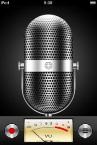 диктофон на ipod touch