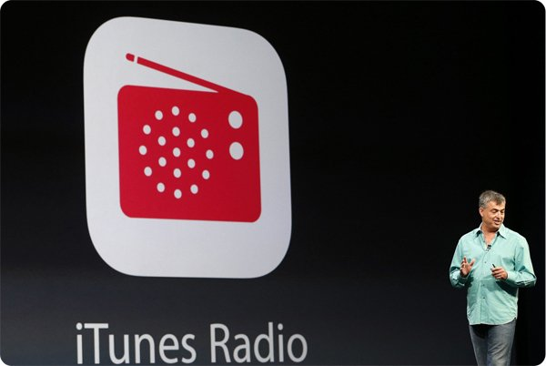 Eddy Cue, Apple senior vice president of internet software and services, introduces iTunes Radio during Apple Worldwide Developers Conference (WWDC) 2013 in San Francisco